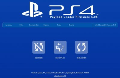 OkaxLoader v1.0 PS4 Playground ESP8266 5.05 Menu by HkN 6.jpg