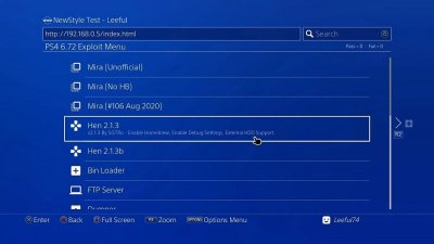 PS4 6.72 Exploit Menu Updates by Leeful74, PlayStation Bounty by TheFloW 6.jpg