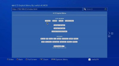 PS4 6.72 Exploit Menu Updates by Leeful74, PlayStation Bounty by TheFloW 8.jpg